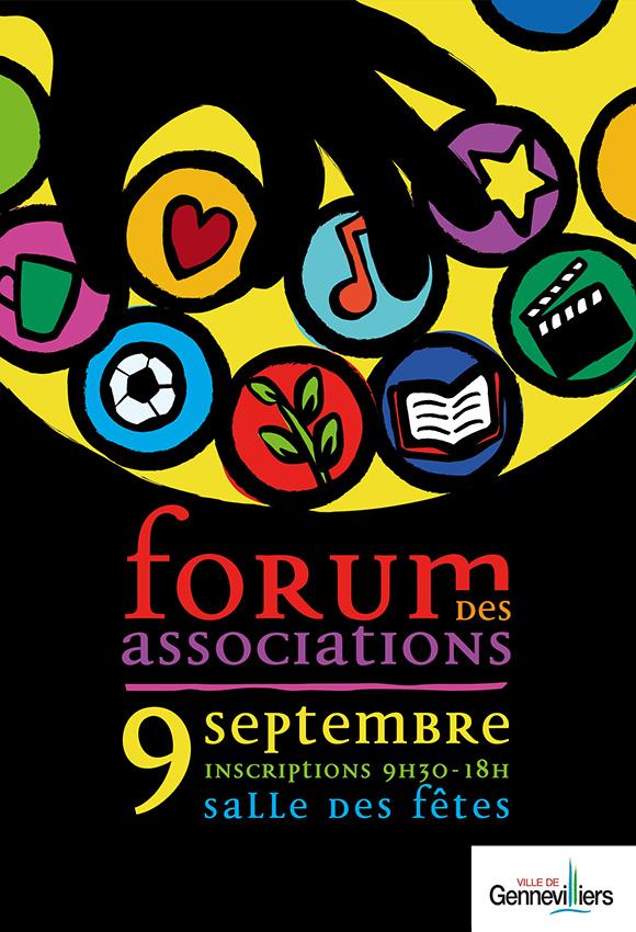 Affiche pour le forum des associations de la ville de Gennvilliers